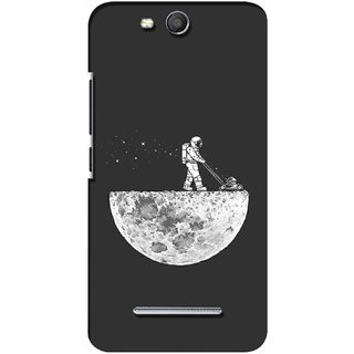 G.store Printed Back Covers for Micromax Canvas Juice 3 Q392 Grey