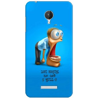 G.store Printed Back Covers for Micromax Canvas Spark Q380 Blue