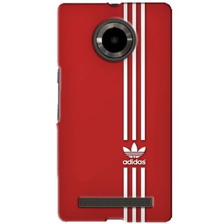G.store Printed Back Covers for Micromax YU Yuphoria Red