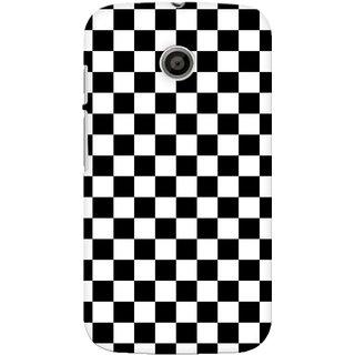 G.store Printed Back Covers for Motorola Moto E Black
