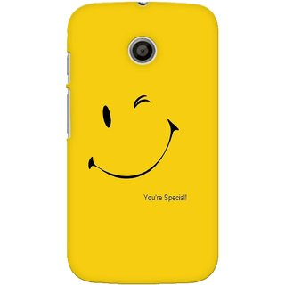 G.store Printed Back Covers for Motorola Moto E Yellow