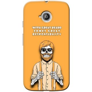 G.store Printed Back Covers for Motorola Moto E 2nd gen Yellow