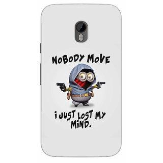 G.store Printed Back Covers for Motorola Moto G (3rd gen) Grey