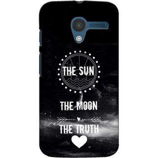 G.store Printed Back Covers for Motorola Moto X Black