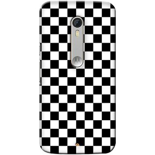 G.store Printed Back Covers for Motorola Moto X Play Black
