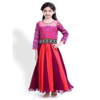 Basil Leaf Self Design Girls Gown - BLGW2066
