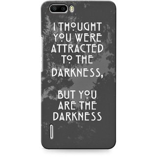 G.store Printed Back Covers for Huawei Honor 6 Plus Grey
