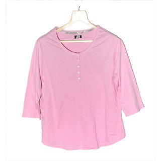 Early smile Pink Cotton Long Sleeve Top for Women