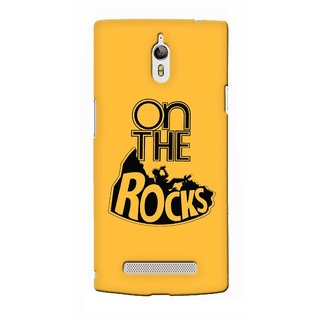 G.store Printed Back Covers for Oppo Find 7  Yellow
