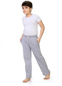 Dognli High Fashion Boys Cotton Pant White Melange