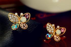 Sweet crystal butterfly earrings jewelry. Stud earrings. Awesome for party wear.