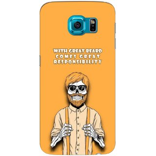 G.store Printed Back Covers for Samsung Galaxy S6 Yellow