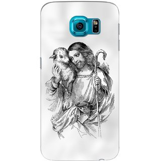 G.store Printed Back Covers for Samsung Galaxy S6 Edge White