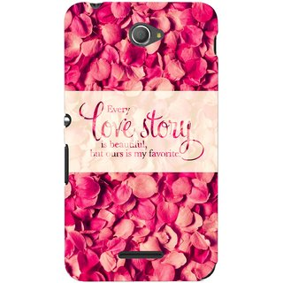 G.store Printed Back Covers for Sony Xperia E4 Red