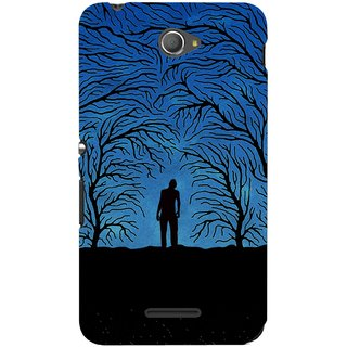 G.store Printed Back Covers for Sony Xperia E4 Blue