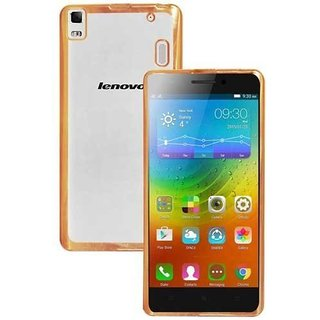 DRaX Crome TPU Flexible Back Case Cover for Lenovo ZUK Z1 - Gold