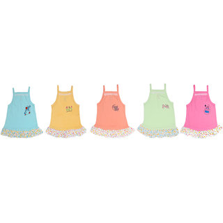 Baby Girls Frocks set ( 0 - 3 months ) ( A pack of 5 )