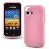 Babypink Glittery Soft Silicone Gel Skin Case For Samsung Galaxy Y S5360 [CLONE]
