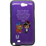 Snooky Purple Soft Back Cover For Samsung Galaxy Note 2 N7100 Td9296