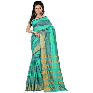 STARLET DIVA womens cotton silk saree with weaving golden border and pallu