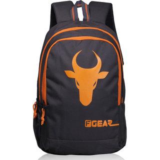 F Gear Castle Rugged Base 24 Liters Bull Backpack (Grey, Orange)