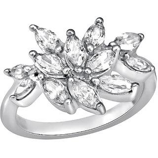 White Cubic Zircon in Silver925 - R525012D