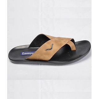 Canopus Men Black & Brown Casual Sandal
