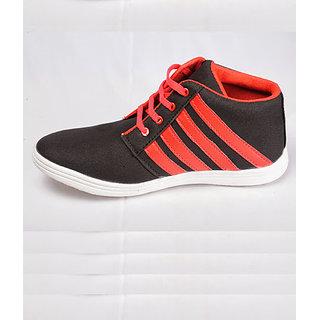 Canopus Men Black & Red Fancy Shoes