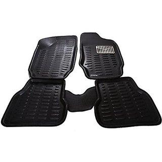 ROYAL Assorted Floor Mat 3D Type For Maruti Suzuki Alto K-10 (Black)