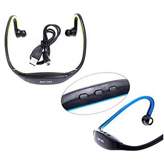 TF Card Slot with FM Radio Head Sports Neckband Wireless Cordless Wrap around Style MP3 Player
