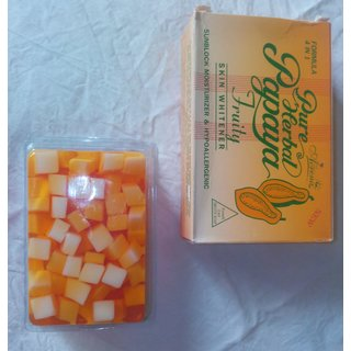 PURE HERBAL PAPAYA FRUITY SOAP (4 IN 1) FOR SKIN WHITENING.