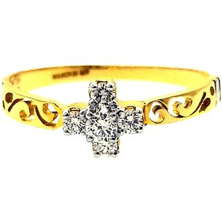 Siddhjewel Gold Diamond 24K Yellow Gold 18 K Ring
