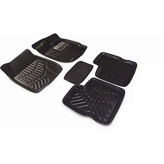 ROYAL Assorted Floor Mat 3D Type For Hyundai I-10 Grand (Black)