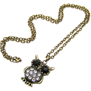 Vintage Collection Bronze Alloy Venetian Owl Pendant Necklace