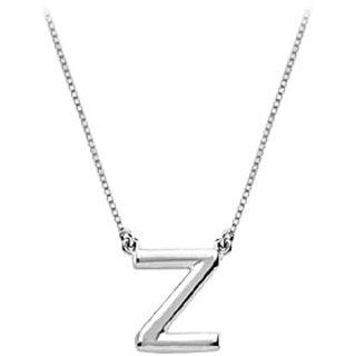 Baby Charm Initial Pendant Z 14K White Gold