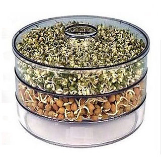 Healthy and Hygienic Sprout Maker With 3 Compartments