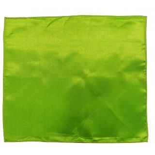 Serebroarts Solid Polyster Pocket Square Olive