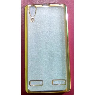 Lenovo A6000 CHROME BORDER TPU SOFT SILICON BACK CASE COVER