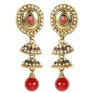 Shining Diva Beautifully Crafted Jhumki Style Hanging Earrings
