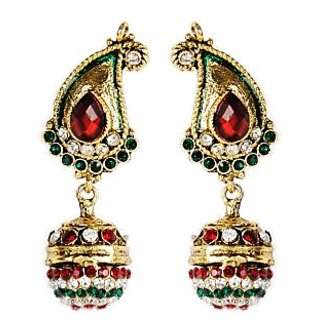 Shining Diva Beautifully Crafted Paisley Inspired Hanging Earrings