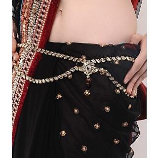 Shining Diva Kundan Studded Two String Wedding Kamarband