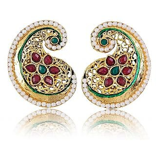 Shining Diva Paisley & Floral Earrings