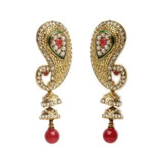 Shining Diva Majestic Paisley Earrings