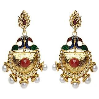 Shining Diva Mayur Design Earrings