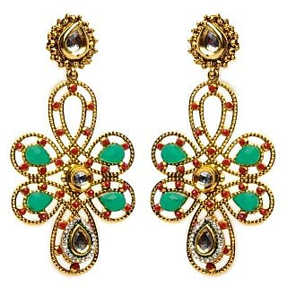 Shining Diva Elaborate Twist Design Earrings