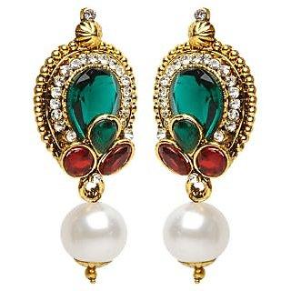 Shining Diva White Drop Earrings