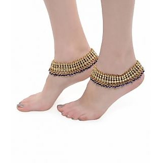 Shining Diva Wedding Blue Pair of Anklet