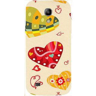 Casotec Hearts Design 3D Hard Back Case Cover for Samsung Galaxy S4 Mini