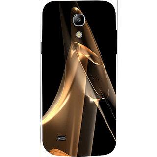 Casotec Gold Smoke Design 3D Hard Back Case Cover for Samsung Galaxy S4 Mini