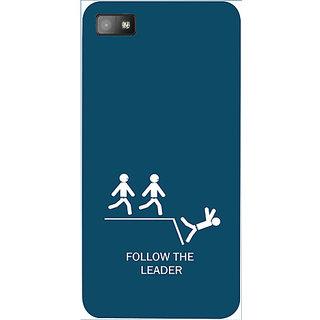 Casotec Follow The Leader Design 3D Hard Back Case Cover for Blackberry Z10